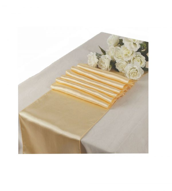2.80m x 40cm Table Runner – Beige (Flowers and tablecloth not Included)