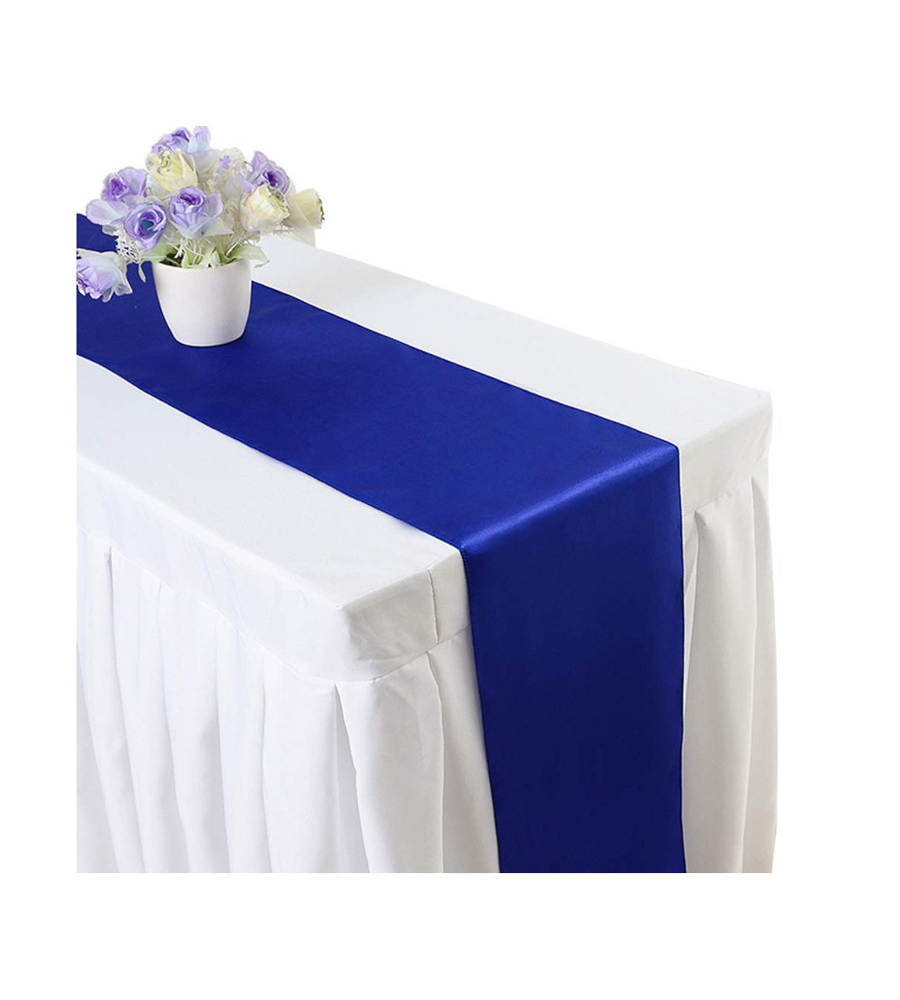 2.80m x 40cm Table Runner – Blue (Flowers and tablecloth not Included)
