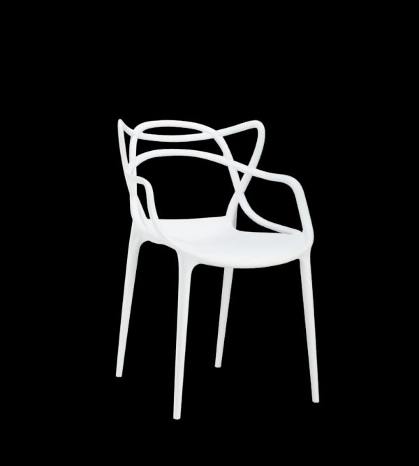 Plastic Web Chair – White