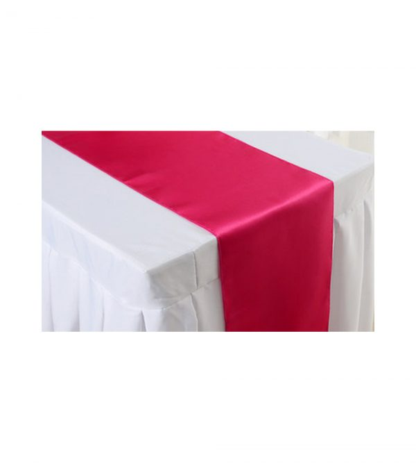 2.80m x 40cm Table Runner – Red (Tablecloth not Included)