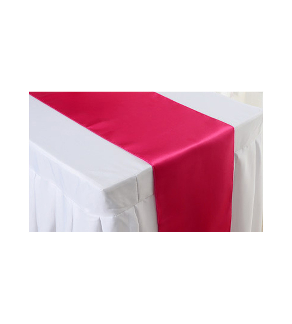 2.80m X 40cm Table Runner   Red (Tablecloth Not Included)