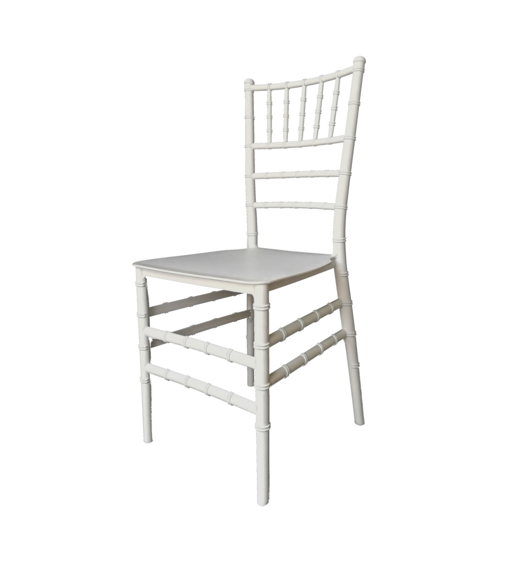 Adult Plastic Tiffany Chair – White