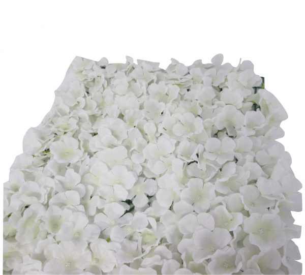 40cm x 60cm Artificial Flower Mat – White