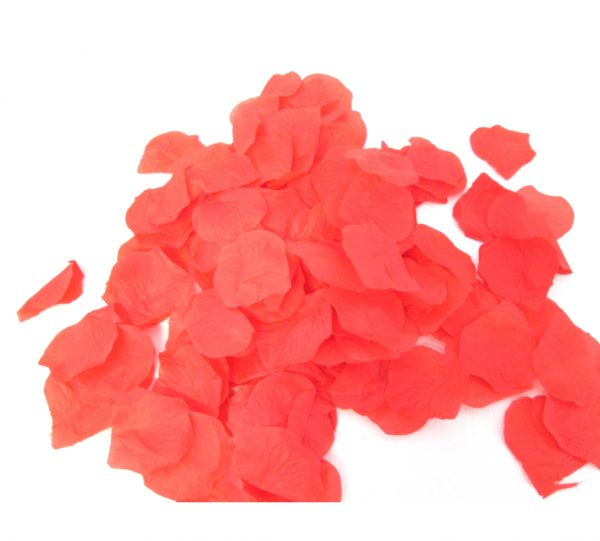 Silk Rose Petals – Red