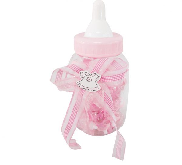 30pc Baby Shower Plastic Bottle – Pink