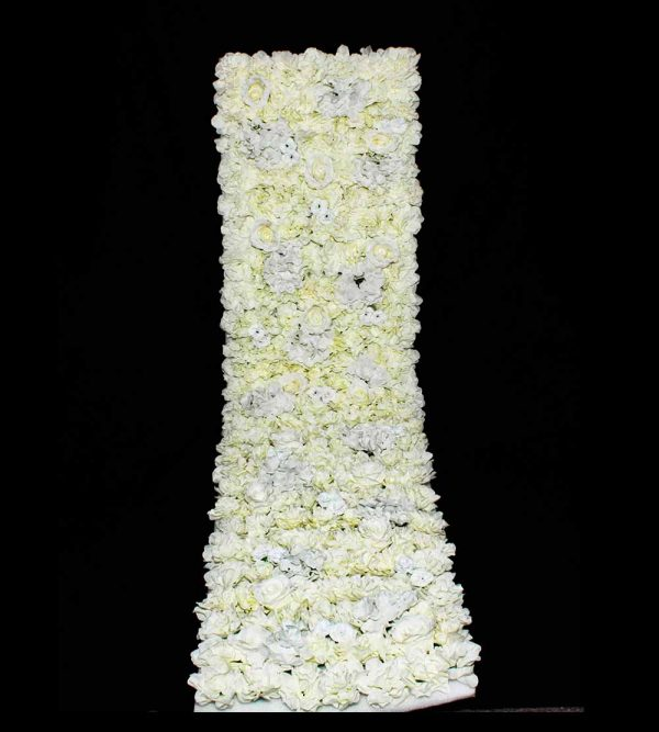 2m x 50cm Artificial Flower Wall – White