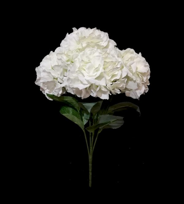 6pc Artificial Peony – White