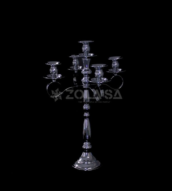 25cm x 25cm x 50cm Candle Stand  – Silver