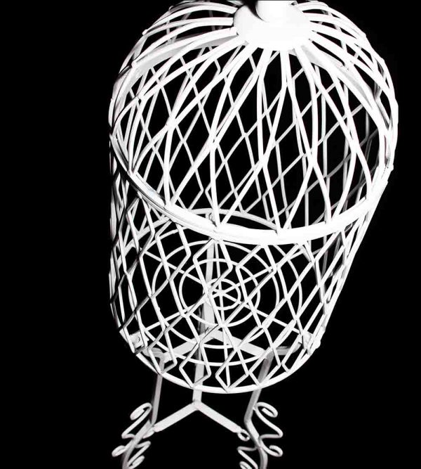 Steel Bird Cage – White