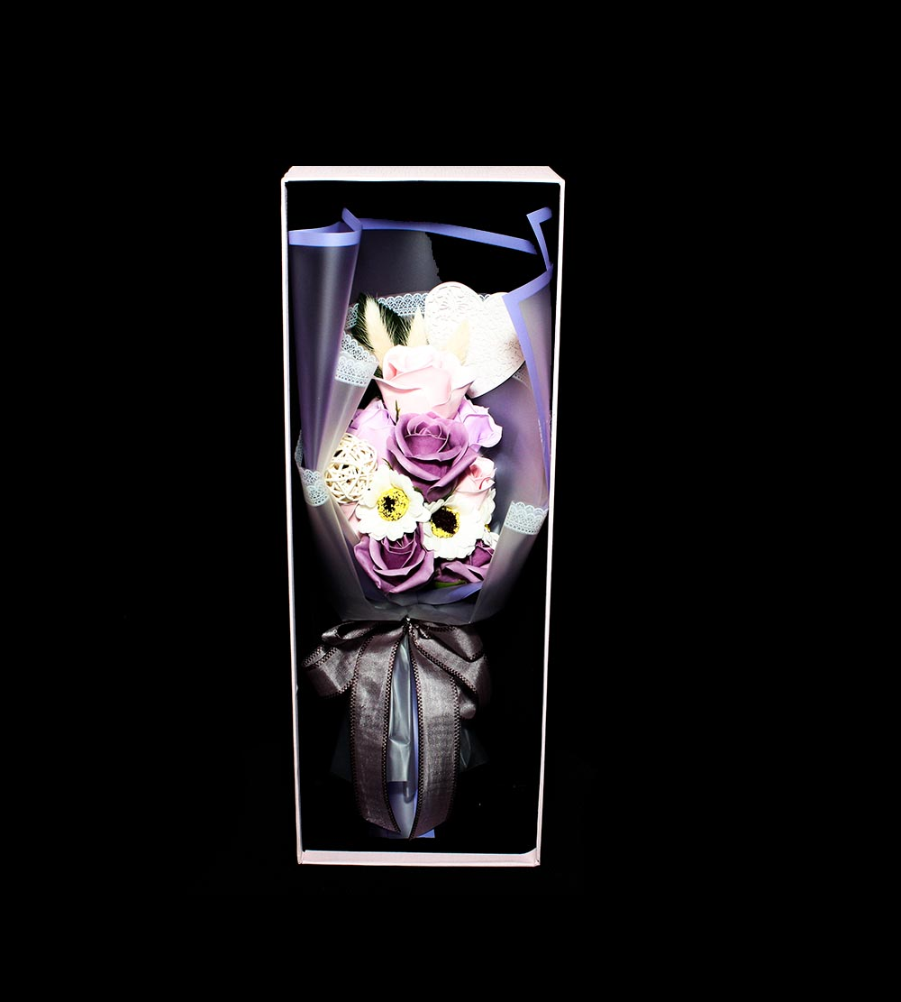 Artificial Soap Flower With Box