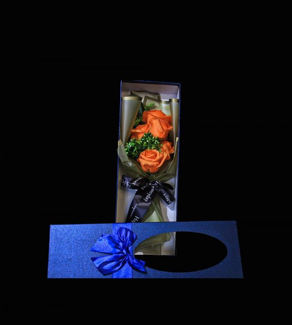 Artificial Soap Flower – Orange