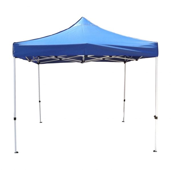 3m x 3m Gazebo in Blue-Oxford Canopy PVC Coated