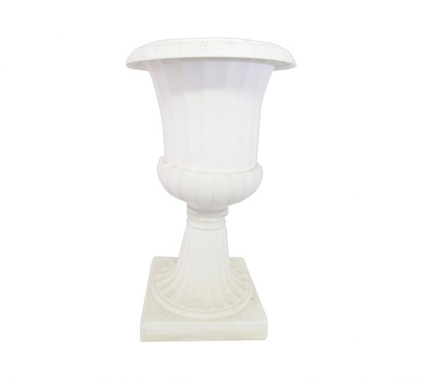 40cm x 67cm Flower Plastic Pot – White