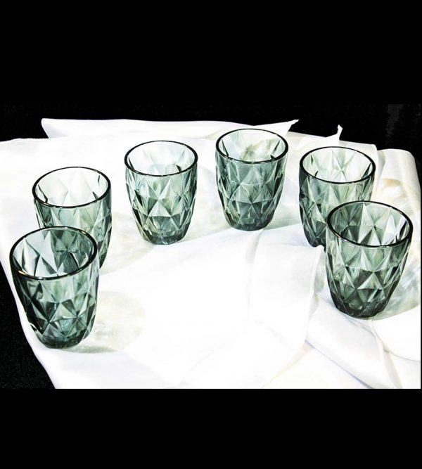 8cm x 10cm Water or Juice Glass Cup – Green