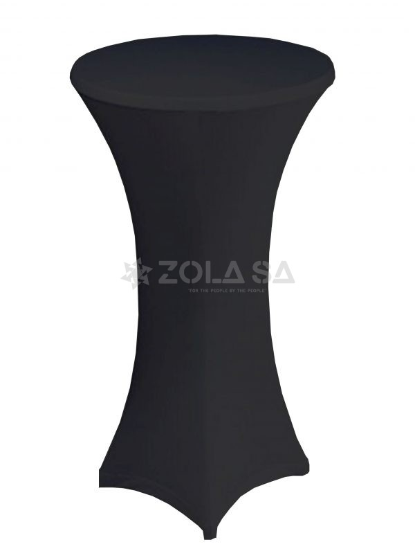 60cm Diameter Cocktail Table Cover – Black