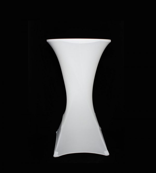 60cm Diameter Cocktail Table Cover – White