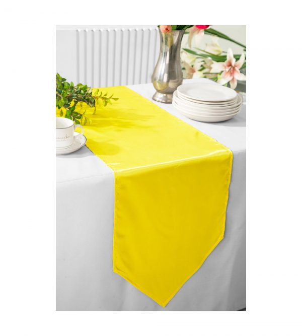 2.80m x 40cm Table Runner  – Yellow (Flowers and tablecloth not Included)