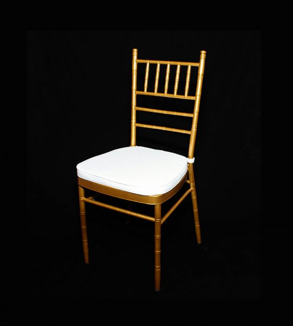 Steel Tiffany Chair – Gold (cushion sold separately)