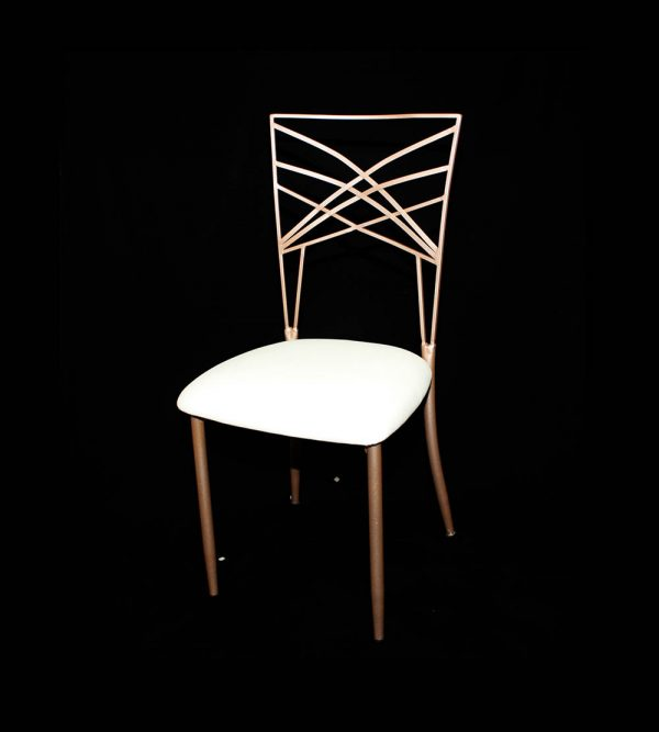Fan Fare Steel Chair – Rose Gold