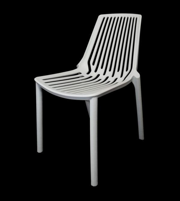 Plastic Verona Cafe Chair – White