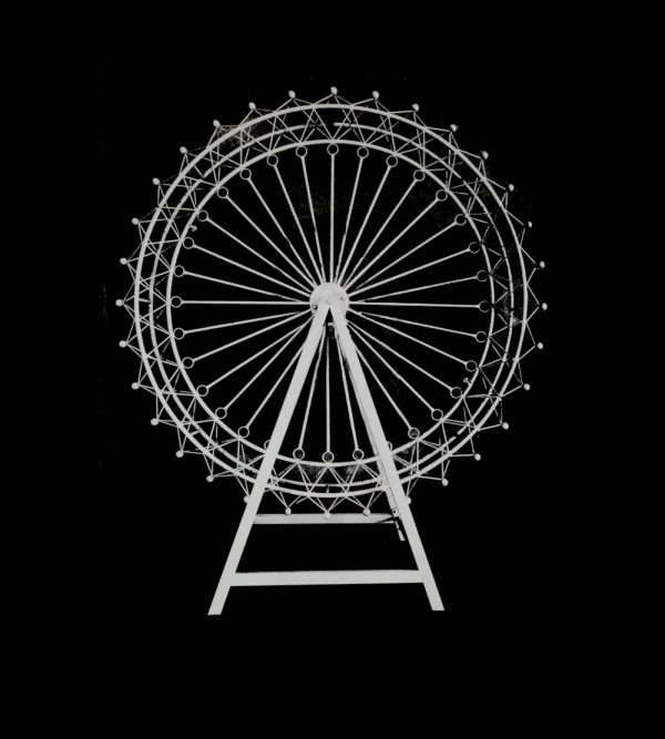 Steel Ferris Wheel – White