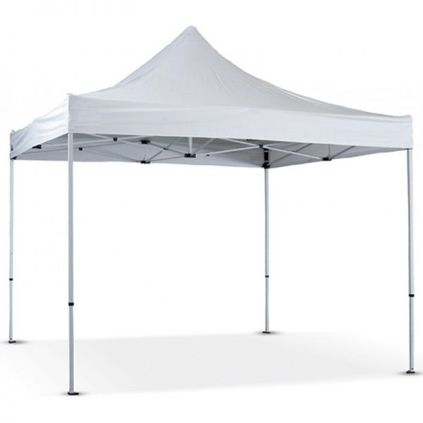 3m x 3m Gazebo in White -Oxford Canopy PVC Coated