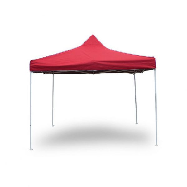 3m x 3m Gazebo in Red-Oxford Canopy PVC Coated