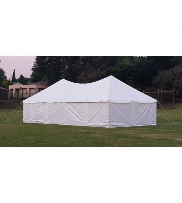 5m x 10m Peg & Pole Tent – White (Windows Not Including)