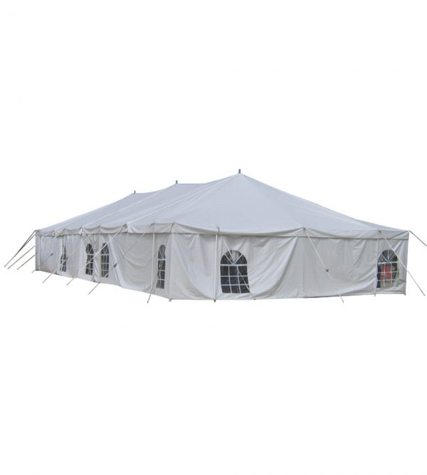 9m x 15m Peg & Pole Tent – White (Windows Not Included)