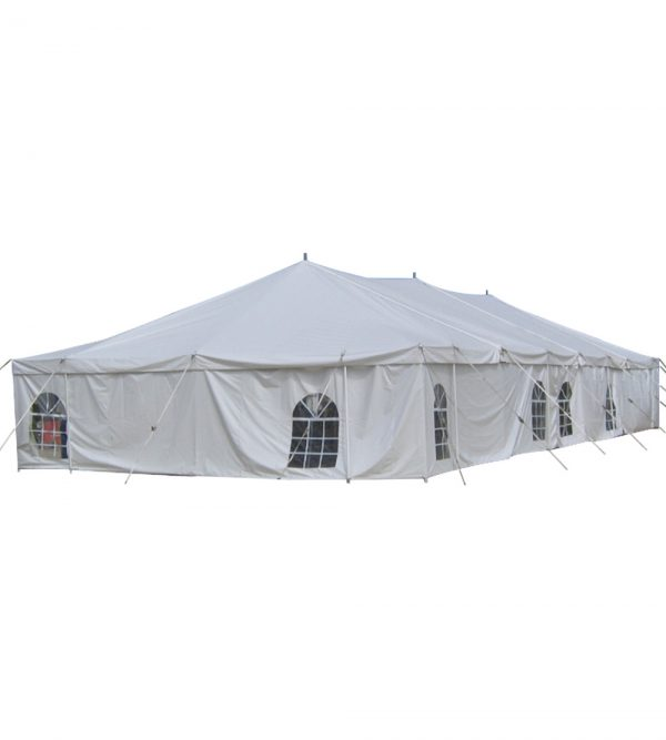9m x 21m Pole Tent – White (Windows Not Included)