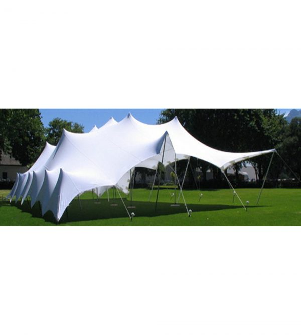 5m x 10m 2-Ply Waterproof Stretch Tent – White