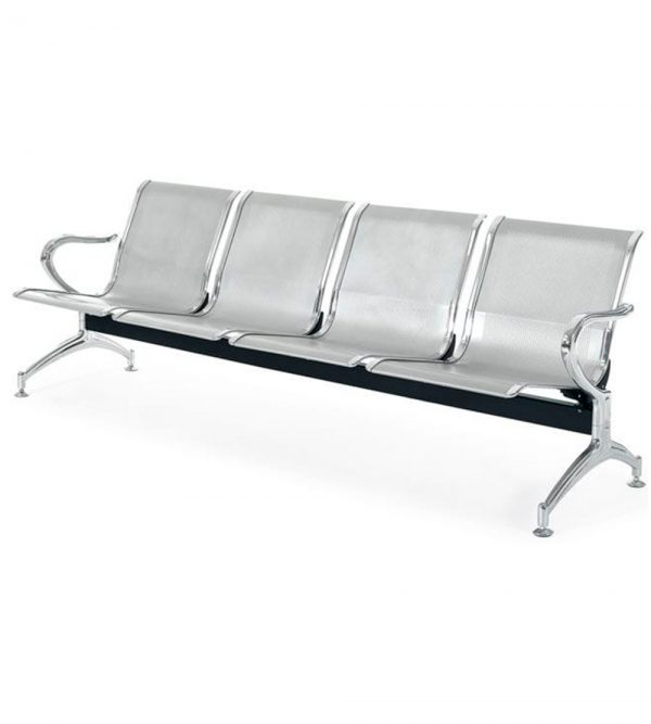 4 Seater Airport Chair/Hospital Chair/Waiting Area Chair – Flash Silver Colour