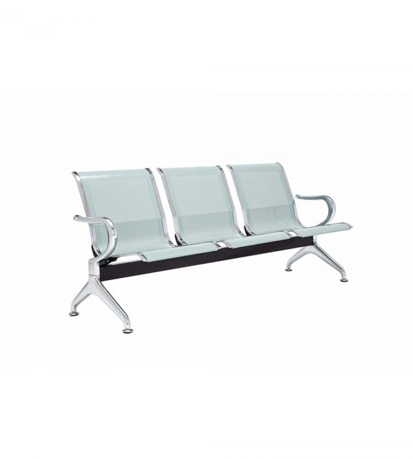 3 Seater Airport Chair & Hospital Chair – Silver