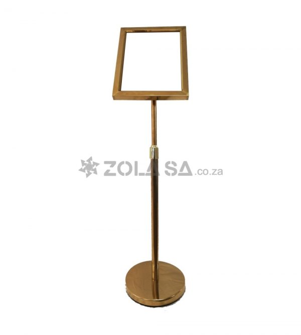 Notice Board Stand – Gold A3 Size