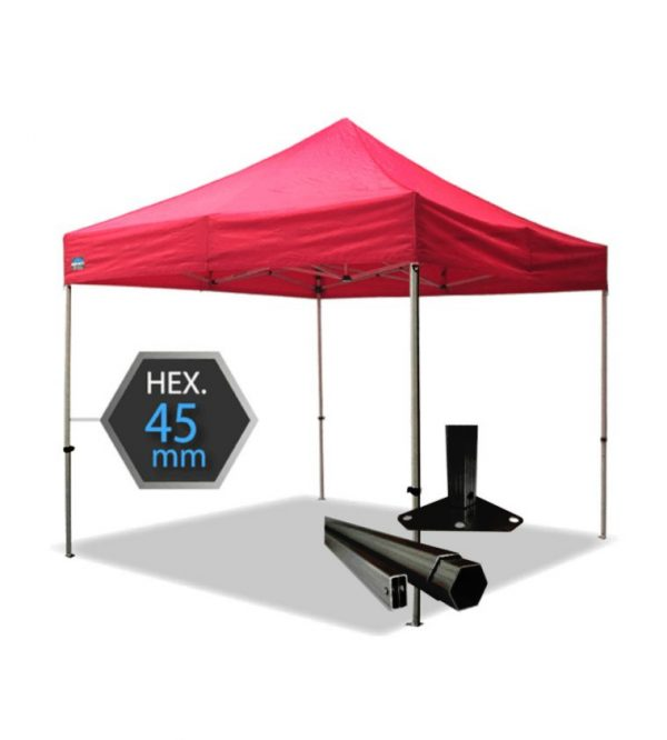 3m x 3m Extra Heavy Duty Gazebo-Oxford Canopy PVC Coated