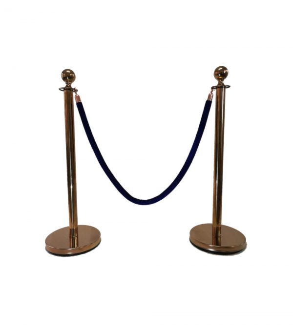 Round Top Stanchion – Rose Gold (Velvet ropes sold separately)