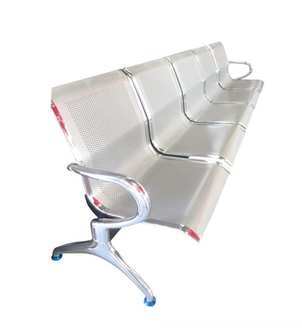 5 Seater Airport Chair/Hospital Chair/Waiting Area Chair -Flash Silver Colour