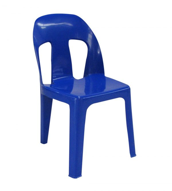 BLUE HEAVY DUTY PLASTIC CHAIR 2.9KG