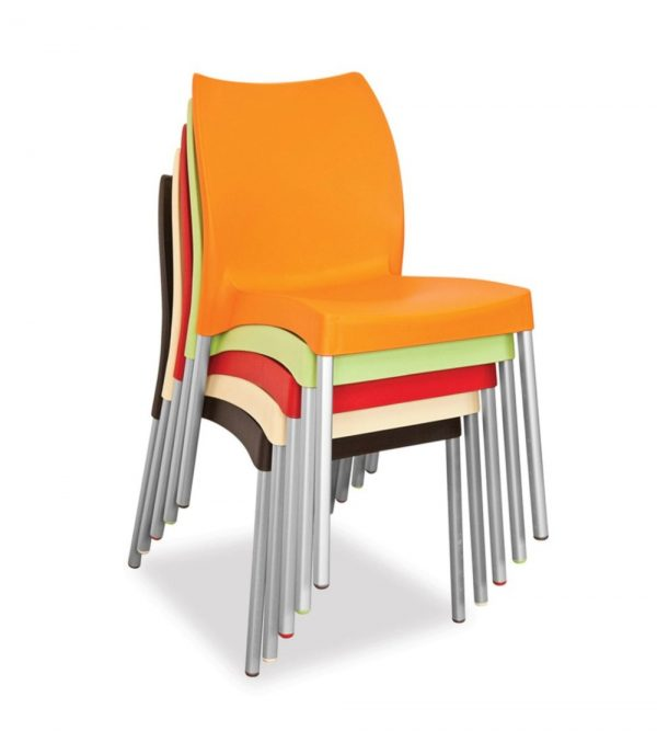 CAFE CHAIRS WITHOUT ARMS  (VARIOUS COLOURS)