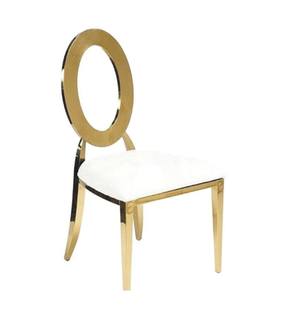 STAINLESS STEEL GOLD EYE CHAIR