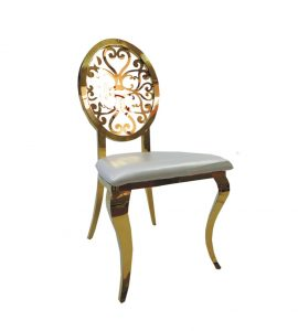 STAINLESS STEEL GOLD MADISON CHAIR