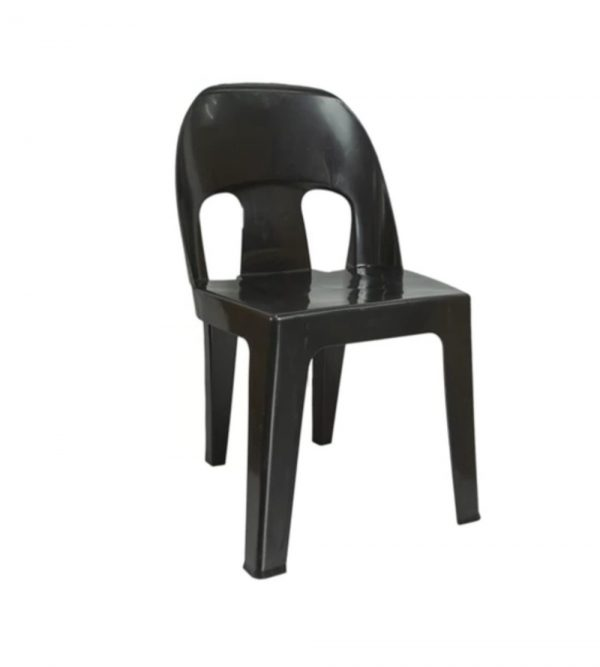 BLACK HEAVY DUTY PLASTIC CHAIR 2.9KG