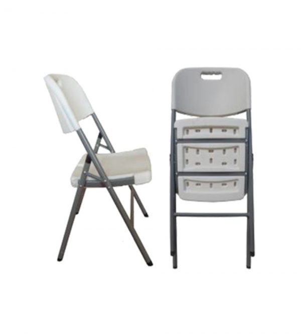 PLASTIC FOLDING CHAIRS- WHITE