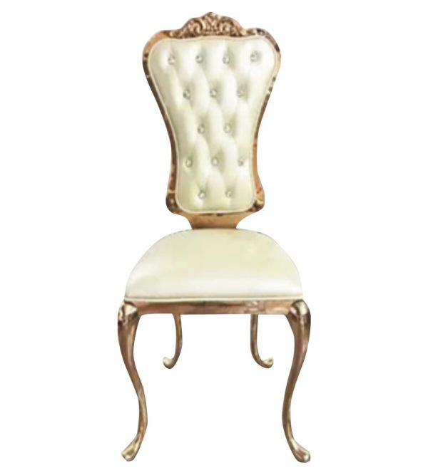 STAINLESS STEEL QUEEN / THRONE CHAIRS ROSE GOLD
