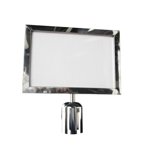 Landscape Poster Frame Silver-A4 Size (For Queue Barriers or Stanchions)