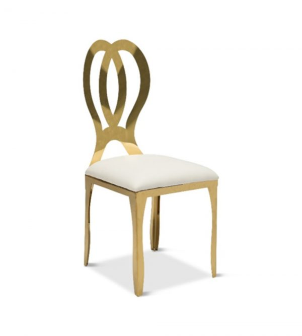 STAINLESS STEEL GOLD BUTTERFLY CHAIR