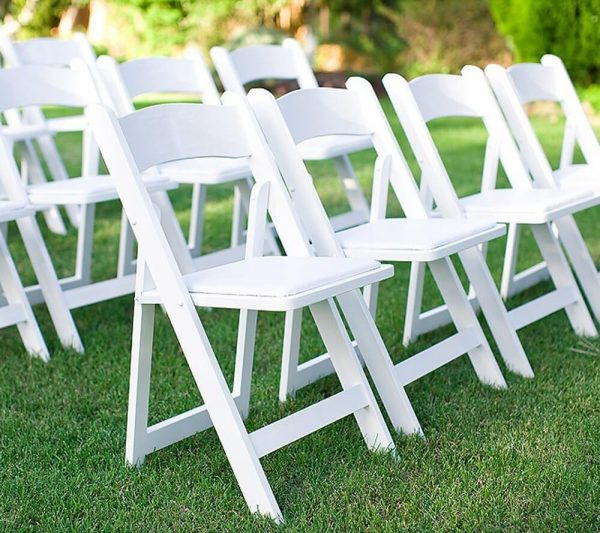 Adult Wimbledon Folding Chair-White