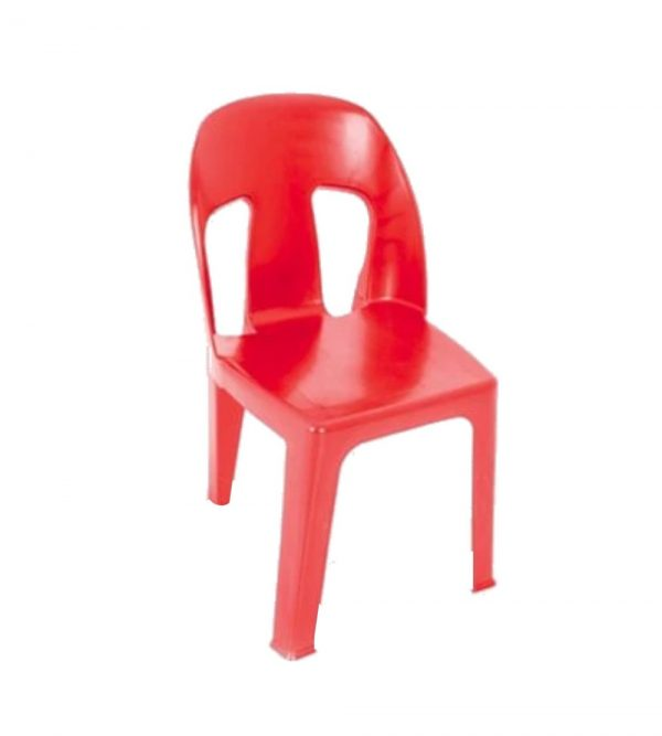 RED HEAVY DUTY PLASTIC CHAIR 2.9KG