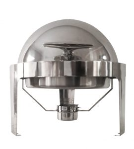 Stainless Steel Round Roll Top  Chafing Dish -No Window 9L Silver