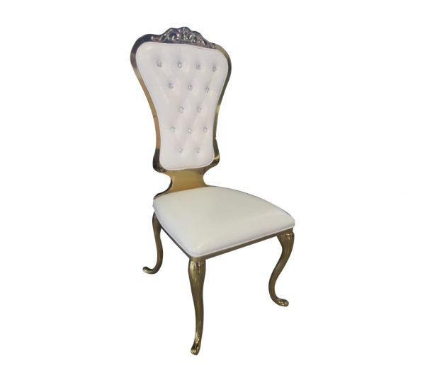 STAINLESS STEEL QUEEN / THRONE CHAIRS GOLD WITHOUT ARMS
